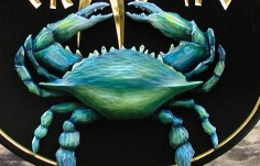 The Crab Beach House Sign Detail