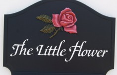 The Little Flower Cottage Sign