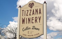 Tizzana Winery Sign
