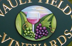 Vault Fields Vineyards Sign Detail