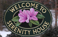 Serenity House Welcome Sign