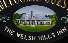 Welsh Hills Inn B & B Sign Detail