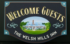 Welsh Hills Inn B & B Sign