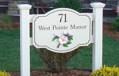 West Pointe Manor House Number Sign