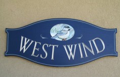 West Wind House Sign