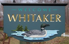 Whitaker Welcome Sign