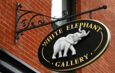 White Elephant Retail Sign