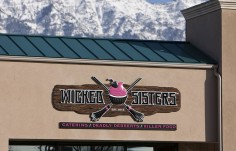 Wicked Sisters Cupcake Shop Sign