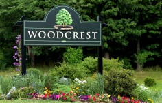 Woocrest Entrance Sign on Location