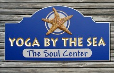 Yoga by the Sea Club Sign
